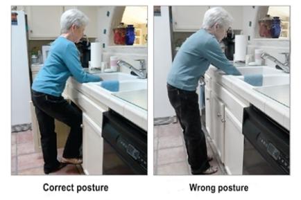 Correct-posture-of-washing-dishes