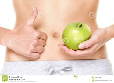 eating-healthy-apple-fruits-good-stomach-digestion-health-woman-showing-green-apples-thumbs-up-hand-sign-close-32613184